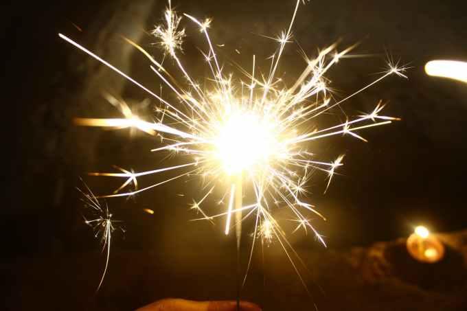 lit firecracker